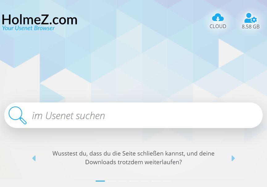 Holmez Weboberfläche