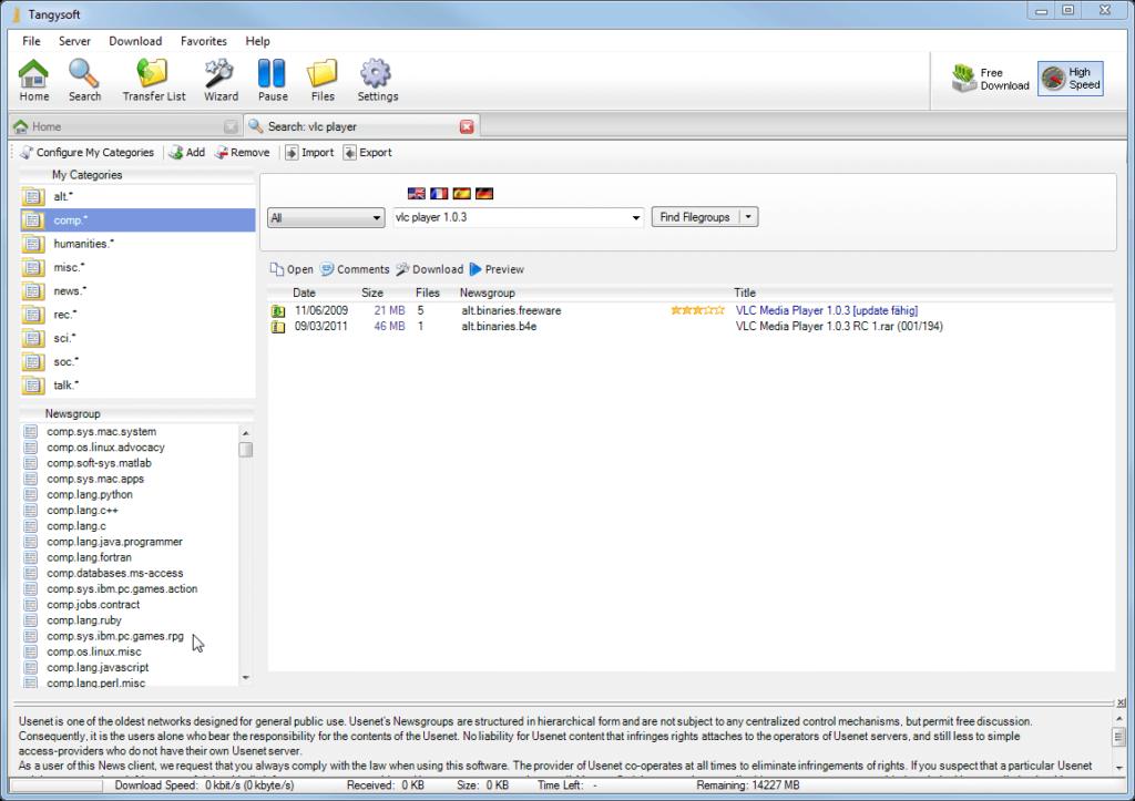Tangysoft Usenext Client