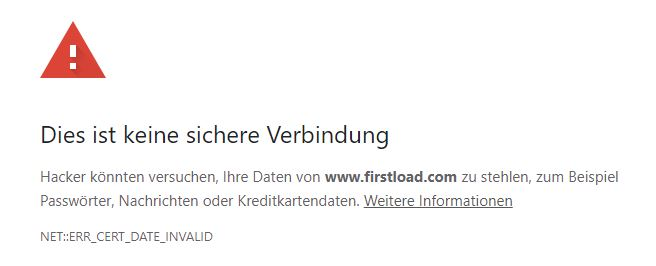 Firstload SSL-Feler
